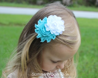 Light blue hair clips, blue and white hair clip, baby girl hair bows, Easter toddler sibling set, toddler girls hair bows, kids hair clip