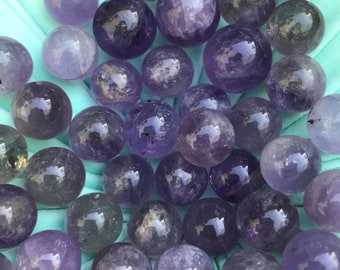AMETHYST Marble 22mm // meditation stone