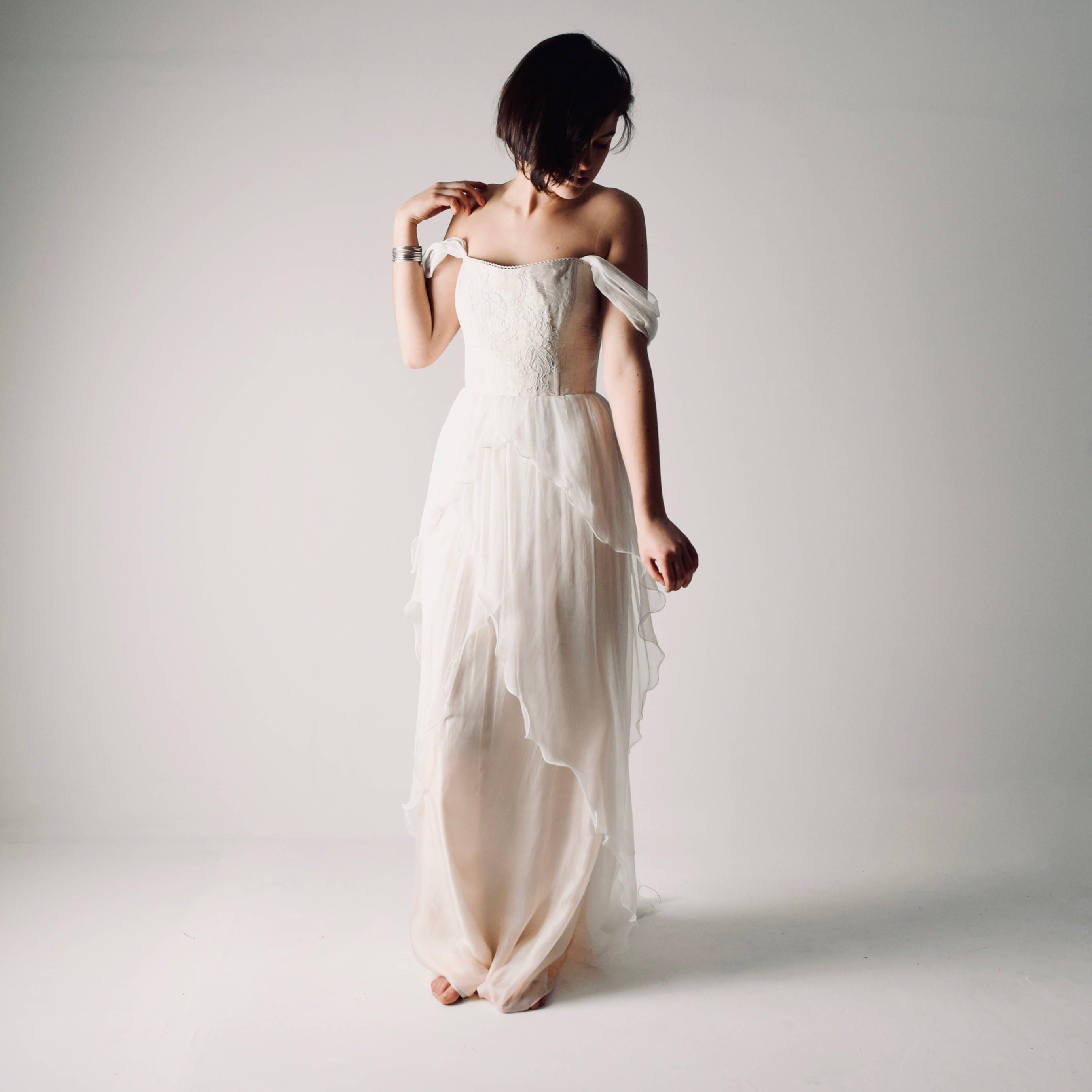 Ab Schulter Hochzeitskleid Hochzeitskleid Farbe böhmische