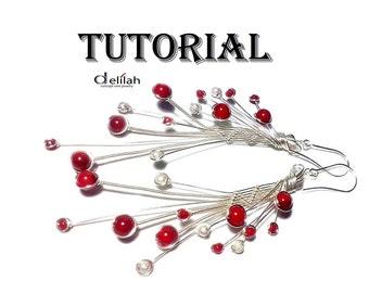 Wire Woven Earrings Tutorial Wire Wrap Earrings Tutorial Wire jewelry Tutorial Wire Tutorial Red Coral Earrings Tutorial Jewelry Making