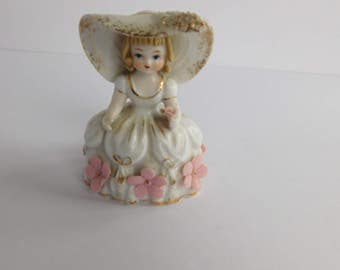 Vintage Mary Mary Quite Contrary Figurine Lefton China