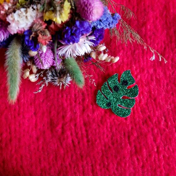 Monstera - Handmade - Cactus - the Rochelle tender brooch