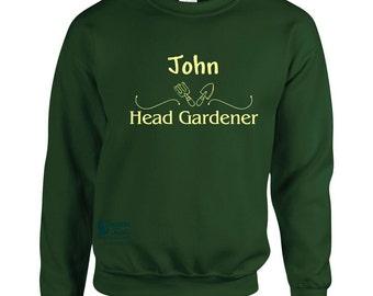 Personalised 'Head Gardener' sweatshirt