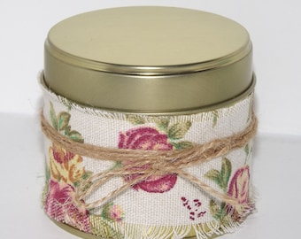 Cuddles Floral Wrap Soy Container Candle.