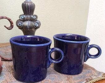 Pair of Cobalt Blue Fiestaware Mugs