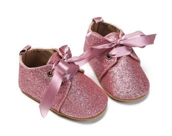 PINK Glitter Shoes, Pink Baby Shoes, Baby Girls Shoes, Pink Baby Shoes, Baby Shoes, Baby Shoes