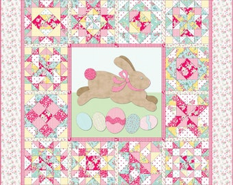 COTTONTAIL BUNNY CROSSING Sampler Block Patterns - Easter - Eggs - Rabbit - Sampler Block Patterns - Electronically Delivered