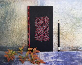 Math Journal. Embroidered Journal. Voronoi & Delaunay Diagram. Teacher's Gift. Math Gift. Mathematics. Science Art Notebook. Men's Gift Idea