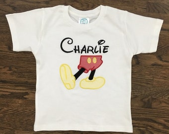 """Boys adorable """"MOUSE FEET"""". Available in long sleeve or short"""