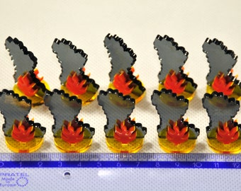 25 x Fire tokens for Flash Point board game