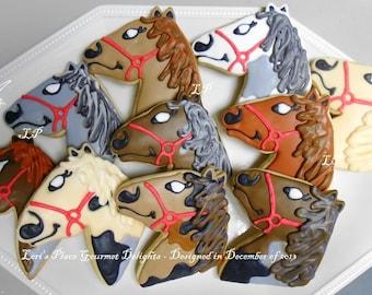 Horse Head Cookies - 12 Cookies