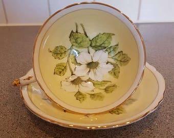 Vintage paragon wild rose tea cup