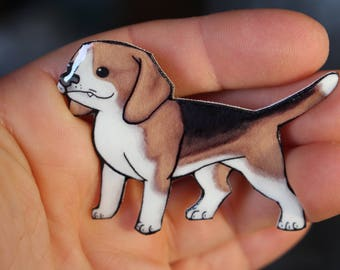 Beagle Magnet: Gift for Dog lovers or hunters or beagle loss memorial Cute Animal magnet for Car Locker or Fridge