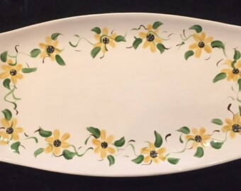 Small Tray with Black Eyed Susan Vine