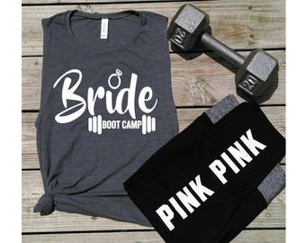 Bride Boot Camp-Gym Tanks- Yoga-Fitness- Muscle tanks-bride-Women's Muscle Tanks