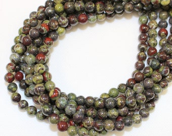 8mm Dragon's Blood Jasper for Jewellery Making and Malas on a 16 Inch Strand, Approx 48 Beads