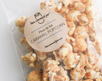 Fleur de Sel Caramel Popcorn - The Perfect Sweet and Savory Snack (8) approx 1 oz Packs