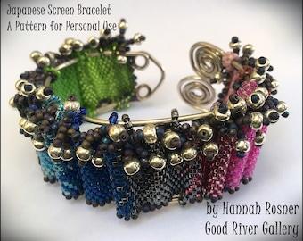 Beading Tutorial Beginning Peyote Stitch Bracelet - Japanese Screen Seed Bead Bracelet pattern instruction by Hannah Rosner