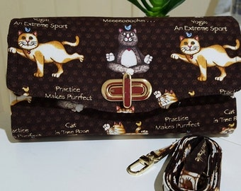 Necessary Clutch Wallet / Clutch Bags / Smartphone wallet / Yoga Cat