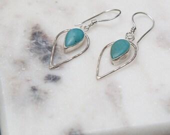 Amazonite Tear Drop Earrings | Dangle Earrings | One of a Kind