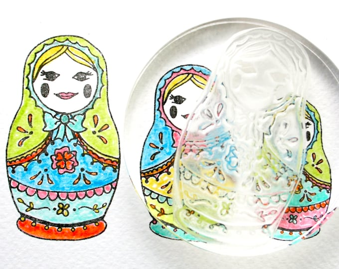 Russian Dolls Rubber Stamps - Russian Doll Stamp - Russian Dolls - Collectable - Clear Stamps - Rubber Stamp - Little Stamp Store