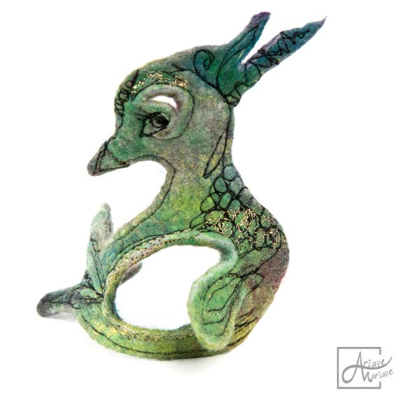 Collectible Textile Art Duck Sculpture. Embroidery felt art. Fancy Fiber Art Critter Textile. Certificated orignal handcrafted in Paris