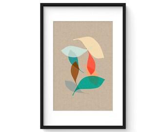 EBB no.13 - Giclee Print - Mid Century Modern Danish Abstract Modern