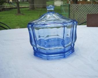 Vintage Blue Candy Dish 1970