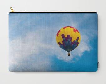 Hot Air Balloon Bag For Women, Gifts For Women Who Travel, Cute Makeup Bags,  Zipper Pouch Large Clutch Bag, Accessory Bag Photo