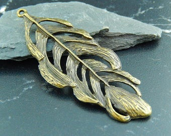 antique bronze leaves 1 pendant charm