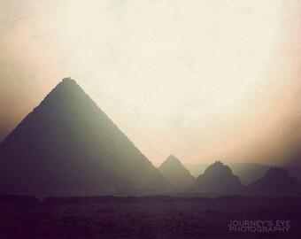 Travel photography, Egypt photograph, fine art print, exotic, dreamy, pyramid, archaeology, Egyptian decor - Giza