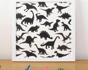 Dinosaur Screen Print Poster