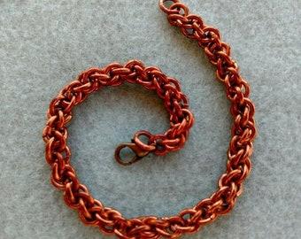 Chain Maille Bracelet, Copper