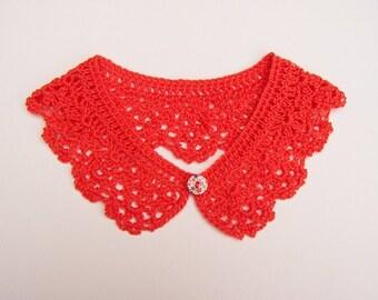 Nectarine Crochet Collar Women Accessory