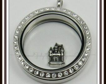 Castle Floating Charm for Glass locket / Floating Locket / Memory Locket