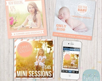 ON SALE Instagram Marketing Board - Quick Hit Marketing - Photoshop template - SM006- Instant Download