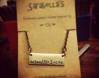 actually I can necklace; bar necklace