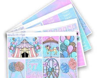 Carnival Collection - Mini Kit | Planner Stickers for Erin Condren Vertical Life Planner