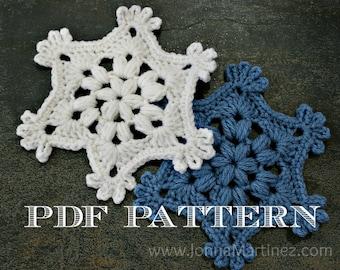 Easy Crochet Puff Stitch Snowflake Pattern, PDF, Crochet Snowflake Pattern,
