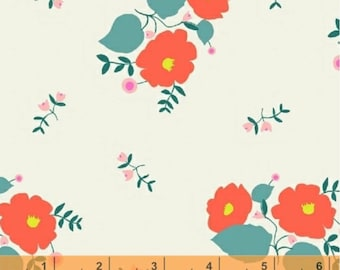 Maribel - Large Floral Cream by Annabel Wrigley from Windham Fabrics