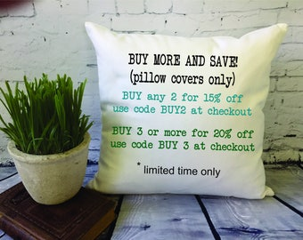 throw pillow cover sale/ buy 2 pillow covers/ buy 3 pillow covers/ bulk pillow covers/ cushion cover/ pillow sham
