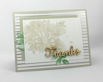 Stampin Up Heartfelt Blooms - Thank You Card - Thanks for Everything - Thanks so Much - A Special Thanks - Floral Thanks - Gratitude Card