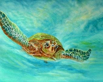 Turtle Painting Art Print