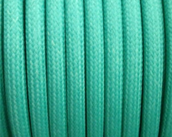 Pastel turquoise green textile electric cable 2 strands - 0.75 mm 2