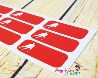 Hockey Planner Sticker - Size Customize-able