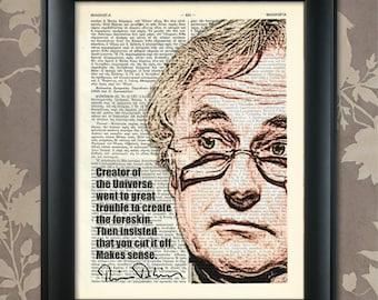 Richard Dawkins, 2, Humor, Dawkins print, Dawkins Poster, Dawkins Humor, R Dawkins gift, Richard Dawkins art, Dawkins quote, Atheist