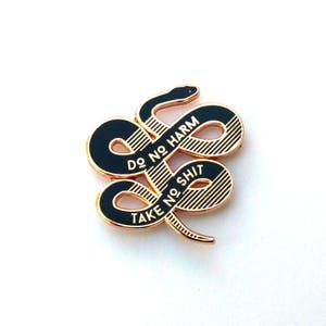 Do no harm, Take no shit Enamel Pin - Rose Gold