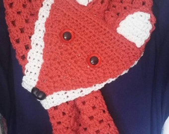 Faux Fox Crocheted Scarf