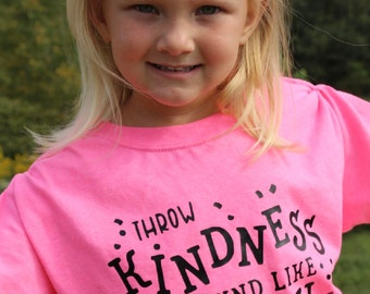 throw kindness around like confetti shirt, compassion shirt, inspirational kids gift, mothers day gift, for girls, for best friend, kindness