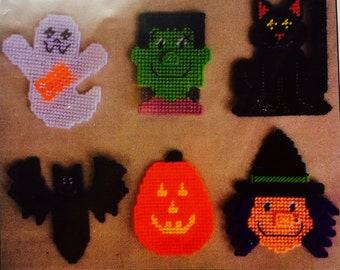 Halloween Magnets plastic canvas